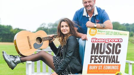 Jade Moulds and dad Glen Moulds who started the Homegrown Festival Picture: ARCHANT