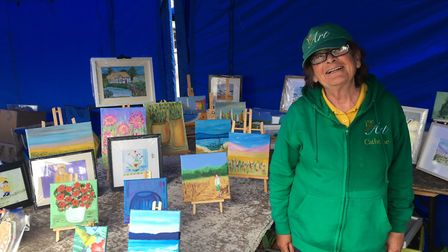 Partially-sighted artist Catherine Baldwin from Clacton Picture: MARIAM GHAEMI