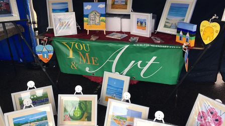 The stall of artist Catherine Baldwin Picture: MARIAM GHAEMI