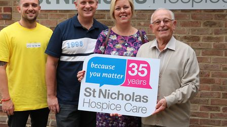 The Unsworth family has raised nearly £15,000 for St Nicholas Hospice Care Picture: ST NICHOLAS HOSP