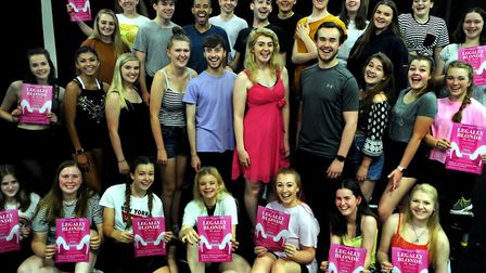 The Suffolk Young People's Theatre rehearsing for their annual summer production staged in just two