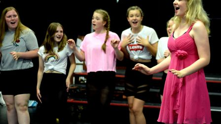 Faye Smith, right, is Elle Woods in the show Picture: ANDY ABBOTT
