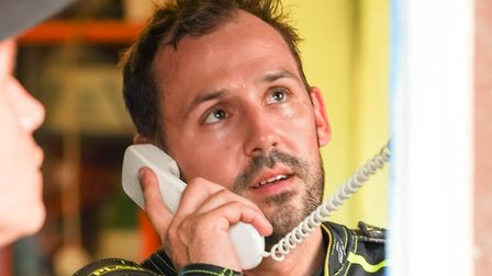 Danny King on the phone to the ref after being excluded last week. Picture: Steve Waller www.step