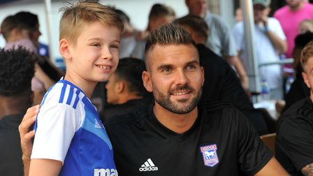 Bartosz Bialkowski poses for pictures at last summer's Open Day. Photo: SARAH LUCY BROWN