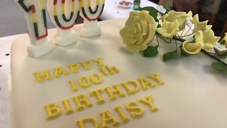 Staff from Flagship Housing baked a cake for Daisy's 100th birthday Picture: VICTORIA PERTUSA