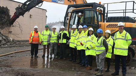 Demolition work began at RAF Lakenheath in November ahead of the arrival of two F-35 squadrons Pictu