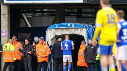 Luke Chambers is suspended for Ipswich Town's season opener at Burton on Saturday having been sent o