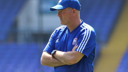Paul Lambert pictured during the Ipswich Town open day training session. Photo: Ross Halls