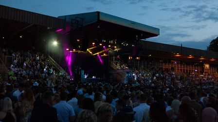 Crowds of racegoers stayed behind to see Rudimental at Newmarket Nights Picture: CHUFF MEDIA