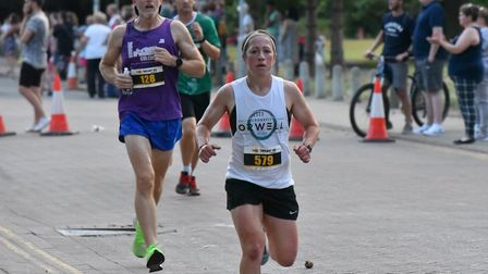 Kat Parnell, who finished fourth female at the Ipswich Twilight 10K. Picture: JAMIE WONEYWOOD