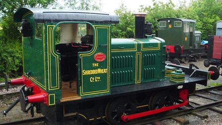 The Shredded Wheat shunter at the Middy. Picture: MID SUFFOLK LIGHT RAILWAY