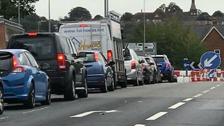 Gridlock on Ipswich Road, which is due to be hit be another two-week closure in August Picture: COLC