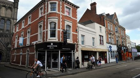 The corner of St Botholph's Street and St Botolph's Church Walk in Colchester town centre Picture: A