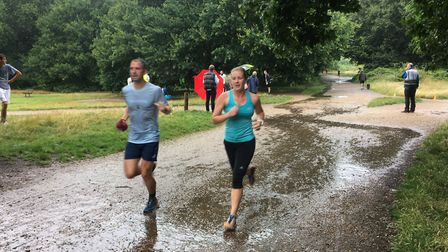 Action from last Saturday's 664th Wimbledon Common parkrun, which was a very soggy experience. Pictu