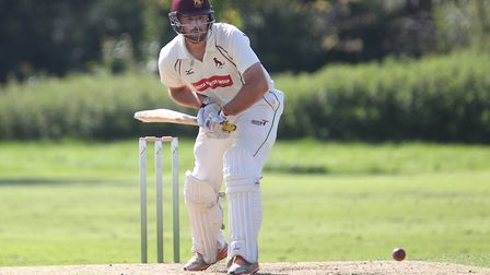 Tom Huggins, who hit a quickfire 54 not out in Sudbury's eight-wicket win over Vauxhall Mallards. Pi
