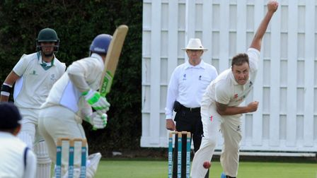 Frinton skipper Michael Comber, who took two early wickets in his side's seven-wicket victory over B