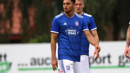 Andre Dozzell featured in the first half of the pre-season game against Paderborn Picture: ROSS HALL