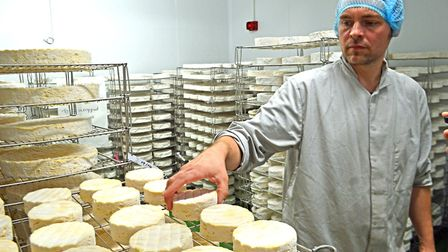 Jonny Crickmore inside the new cheese-making building at Fen Farm Dairy near Bungay. Picture: CHRIS