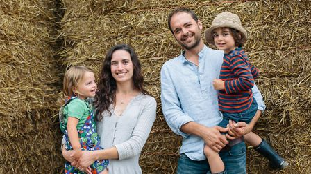 Dulcie and Jonny Crickmore and family of Fen Farm Dairy of Bungay Picture: KAT MAGER PHOTOGRAPHY