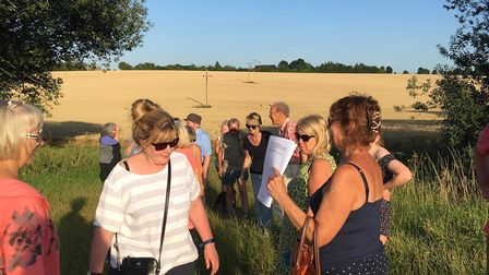 Members of Save Mill Mount Field on the walk around the proposed development site Picture: MARK LANG