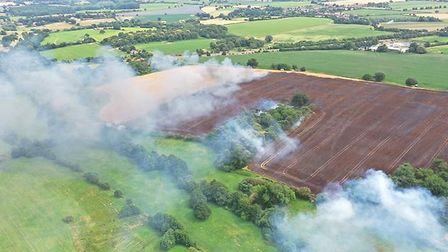 Foxhall field fire Ipswich Picture: IAIN WRIGHT