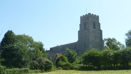 Grade 1 listed St Mary's church at Combs Picture: MARK LANGFORD