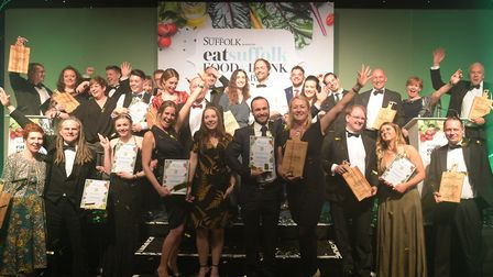 Winners of the Eat Suffolk Food and Drink Awards 2019 Picture: SARAH LUCY BROWN