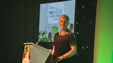 Host Jayne Lindill at the Eat Food and Drink Awards 2019 Picture: SARAH LUCY BROWN