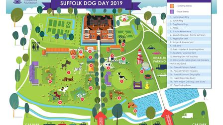 A map of the showground for Suffolk Dog Day Picture: SUFFOLK COMMUNITY FOUNDATION