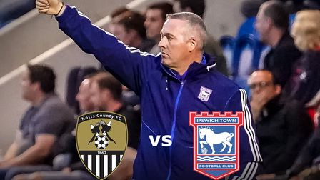 Paul Lambert's Ipswich Town are at Notts County this evening. Picture: STEVE WALLER