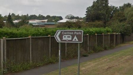 The incident happened near Carlton Park in Saxmundham Picture: GOOGLE MAPS
