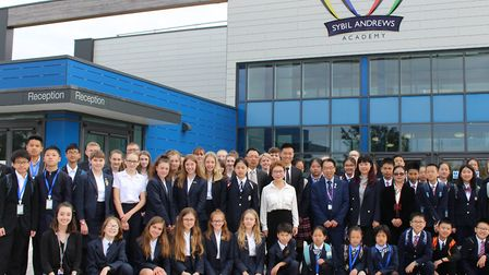 Chinese students from Shanghai visited Sybil Andrews Academy in Bury St Edmunds Picture: GOODERHAM P