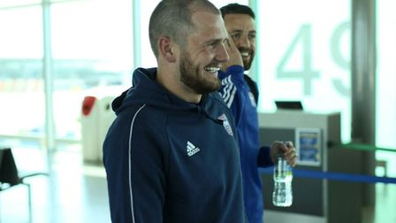 James Norwood flew out with the Ipswich Town squad to Germany. Picture: ITFC