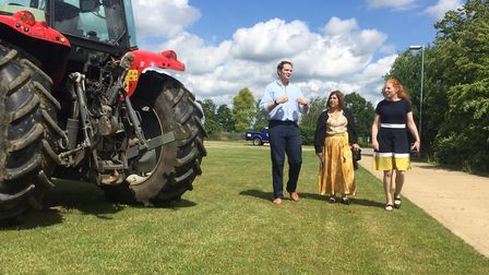 Central Suffolk and North Ipswich MP Dan Poulter, Viv Gillespie and Jane Townsend discussing the new
