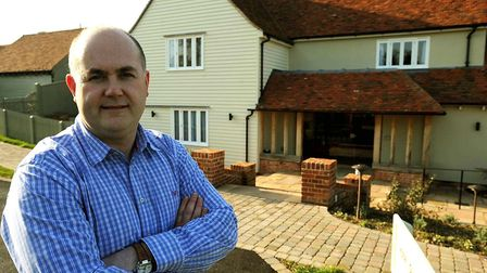 EADT NEWS Richard Sunderland is pictured at The Crown in Stoke By Nayland. His is angry that