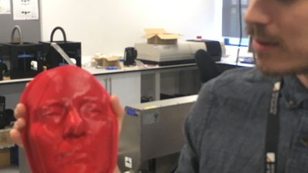 Face mask printed at the 3D Productivity Suite at the Ipswich Waterfront Innovation Centre Picture: