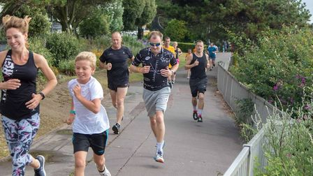 It's all smiles at the 140th Clacton Seafront parkrun. Picture: CLACTON PARKRUN FACEBOOK