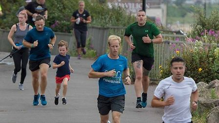 Runners make their way along the promnade at Saturday's Clacton Seafront parkrun. Picture: CLACTON P