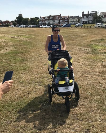 Some one even ran the Great Run Local Southwold with a push chair. Picture: COLIN BALDWIN