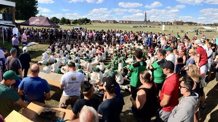 Players and parents gather round at Holbrook during the festival Photo: CONTRIBUTED