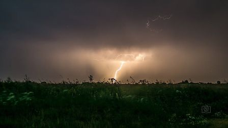 Amazing picture taken over Honington Picture: KRISTA LEIGH PHOTOGRAPHY
