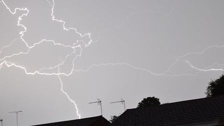 Fire crews were called out after receiving reports that two houses had been struck by lightning Pict