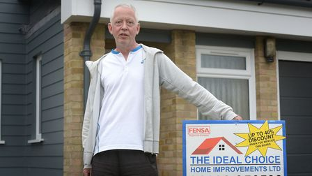 Dave Chaplin bought thousands of pounds' worth of windows from Suffolk company My Ideal Choice. But