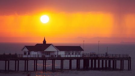 Sarah Groves took this stunning picture of a storm brewing at the sun rose over Southwold Pier. Pict