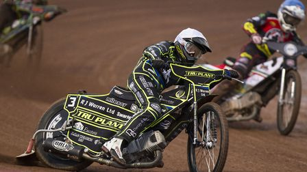 Danny King leads the way at Belle Vue Photo: TAYLOR LANNING