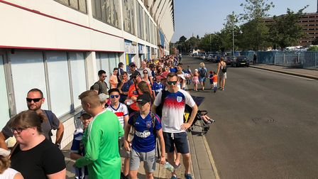 More than 5,000 fans are expected to attend the Ipswich Town Open Day. Picture: JAKE FOXFORD