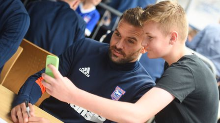 Fans can get selfies with the Town stars at the Open Day! Picture: ARCHANT