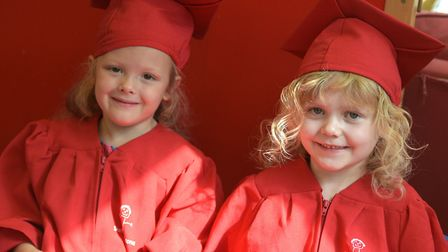 Children having a gigle on their last day Picture: SARAH LUCY BROWN