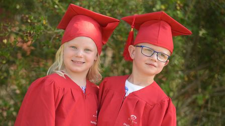Children at Kidzone nursery in Shotley had a graduation ceremony on their last day, with staff celeb