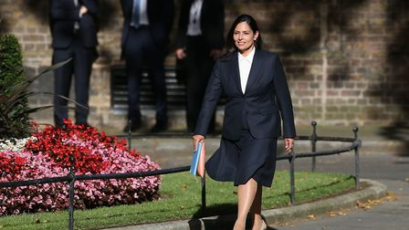 Priti Patel arrives at Number 10 to be made new Home Secretary. Picture: Jonathan Brady/PA Wire